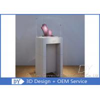 Buy cheap Simple Fashion Pedestal Glass Museum Display Case With Lock / Logo from wholesalers
