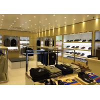 Quality Veneer Stainless Steel Clothing Display Case Contemporary Luxury Retail Design for sale