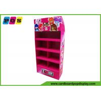 Quality Promotional Portable POS Cardboard Floor Display Shelf With 4 Trays FL030 for sale