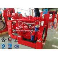 Quality High Performance Fire Pump Diesel Engine 209kw With Speed 2100RPM , UL Listed for sale