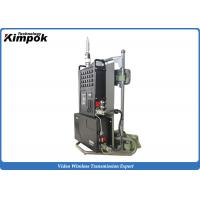 Quality 10KM NLOS Emergency COFDM Transmitter with Encryption Mobile Video Transmission System for sale