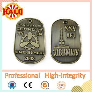 China Zinc alloy custom military dog tag on sale