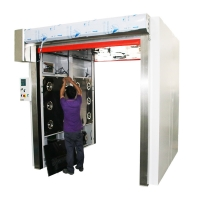 Quality Cargo Air Shower tunnel Cargo Pass through box with PVC fast rolling door for sale