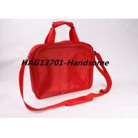Quality Red 420D polyester document briefcase bag for ladies and Men for sale