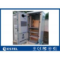 Quality DC Air Conditioner Outdoor Equipment Cabinet One Front Door With Three Layer Battery for sale
