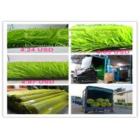 Quality Light Green Artificial Grass Football Carpet with PP + NET + SBR GLUE Backing for sale