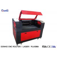 Quality Black And Red Fabric Laser Cutting Machine with Honey Comb Table For Wood Engraving for sale
