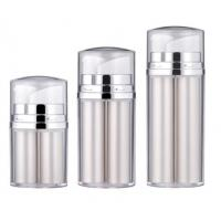 Quality 5ml 10ml 15ml Double Wall Dual Chamber Two nozzles Plastic Cosmetic Airless Bottle for sale