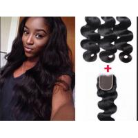 Quality Professional peruvian deep wave virgin hair 28 Inch Hair Extensions for sale
