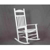 Quality White Rocking Chair Wooden Outdoor Furniture Hollow Design For Relaxing for sale