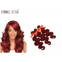 Quality Free Tangle Remy Body Wave Human Hair / 99J Brazilian Body Wave Hair 3 Bundles for sale