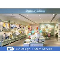 Quality OEM Children'S Store Fixtures / Baby Clothing Showcase With Light Green Lacquer Finished for sale