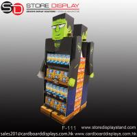 Quality creative eye-catching double sides floor display shelf rack for sale