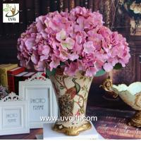 Quality UVG Purple artificial hydrangea flower and geranium making on china market for weddings for sale