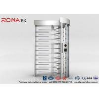 Quality High Security Full Height Turnstile Access Control 30 Persons / Minute Transit Speed for sale