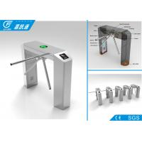Quality Exit Waist Height Turnstile Lane Width 550 - 570mm , Turnstile Gate With Card Reader for sale