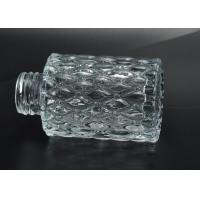 Buy Cut Glass Perfume Bottles Antique Transparent With Emboss Pattern at wholesale prices