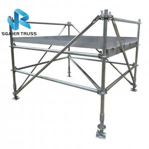 Quality Iron Layer Portable Stage Equipment With Black Deck Boards for sale