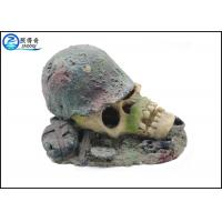 Buy Air Operated Skull Fish Tank Ornaments , Aqua Resin Ornaments For Decorating at wholesale prices