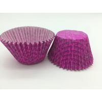 Quality Luxuriant Purple Paper Cupcake Liners Printed Round Paper Cake Cup Mold Baking Set for sale
