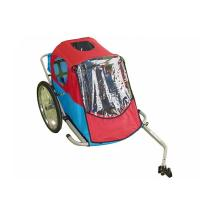 Quality 2IN1 Double Baby Bike Trailer, 420D waterproof polyester  textile with PU coating for sale