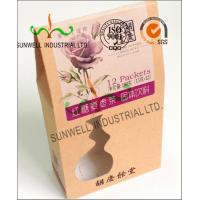 Quality PVC Windows Cardboard Food Packaging Boxes , Self Closing Cardboard Takeaway Containers for sale