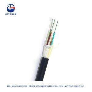 Quality SM ADSS Metallic Wire G657A 12 Fiber Optic Cable for sale