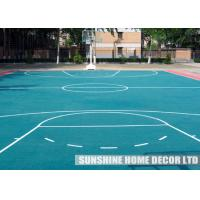 Pp recycled indoor sports flooring waterproof for exercise for Indoor basketball flooring prices