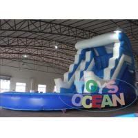 China Blue Bouncy Rent Inflatable Double Water Slide Backyard For Birthday Party on sale