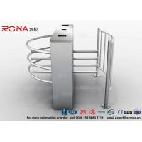 Quality Semi Automatic Waist Height Turnstiles Entrance IC/ID Card Access Control AC220V for sale