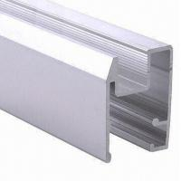 Quality PVDF Painted Black Aluminum Window Extrusion Profiles , Bathroom Aluminum Sliding Windows for sale