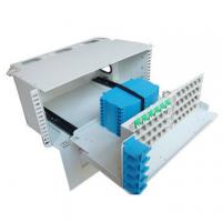 Quality 3U Height 96 Core Fiber Optic Distribution Frame For Telecommunications Subscriber Loops for sale