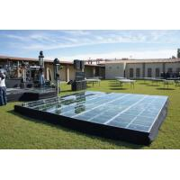 Buy Black Glass Square Acrylic Stage Platform Anti-slip For Evens at wholesale prices