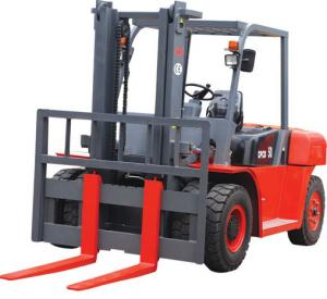 Quality 2200r/Min 10t Logistics Machinery 4 Wheel Electric Forklift for sale