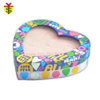 Quality Heart Shape PVC Window Lids Paper Box For Gift Packaging Handmade for sale
