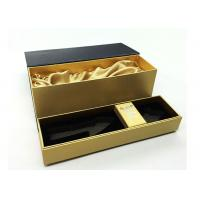 Buy Personalized Wine Packaging Boxes With Luxury PU Leather Logo Printable at wholesale prices