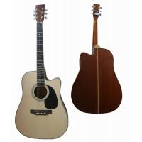 "Quality small 41"" Cutaway Sapele Back Wood Acoustic Guitar cupronickel Frets AF4120C-B for sale"