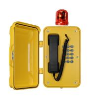 Quality Heavy Duty Industrial Outdoor Weatherproof TelephonesWith Warning Light for sale