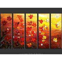 Quality flower painting art painting lotus river art picture for sale