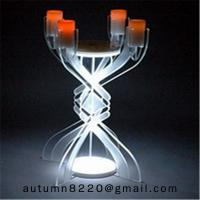 Quality CH (23) votive glass candle holder with acrylic stand for sale