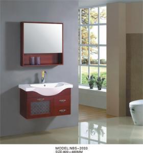 Buy cheap Modern wood bathroom vanity wall mounted 80 X 48 X 51 / cm ISO2000 standard from wholesalers