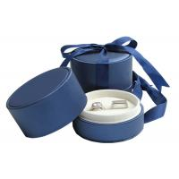 Quality Fashion Decorative Round Jewelry Box For Earrings , Little Jewelry Paper Boxes for sale