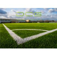 Quality PE Material Artificial Grass Football , Soccer Synthetic Turf for sale