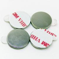Quality three disc magnets 3m self adhesive backing plastic name badge tags/magnets for sale