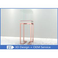 Buy cheap OEM  Glass Jewelry Pedestal Display Cases / Pedestal Display Cases from wholesalers