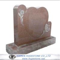 Quality Red Heart Shaped Granite Tombstone with Lace for sale