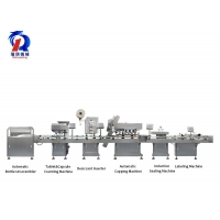China Fully Automatic 16 Channel Tablet Counting And Capping And Cap Screwing Production Line on sale