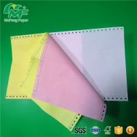 China 3 Ply 9.5* 11 Computer Form Paper , Carbonless Ncr Continuous Stationery Paper Smooth Surface on sale