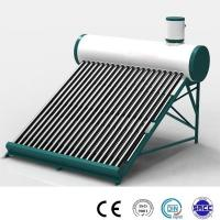 China non pressure 200liter compact solar hot water heater with solar vacuum tubes on sale