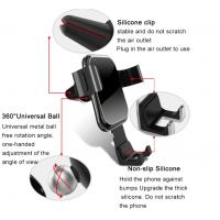 Quality Silicone Clip Universal Car Mount Holder Tempered Glass Panel Anti Fingerprint for sale